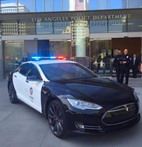 Tesla Model S dla policji w Los Angeles
