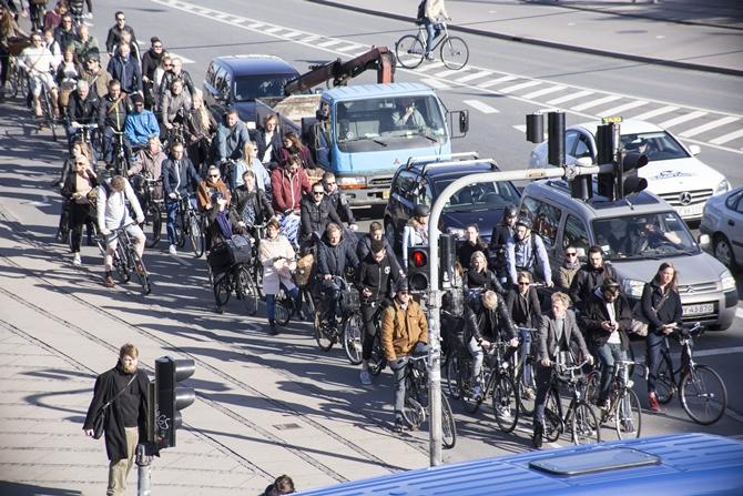 Rowerzyści w Kopenhadze / Źródło: Copenhagenize Design Co.