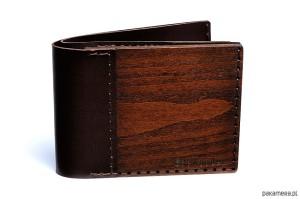 Portfel z drewna drewno