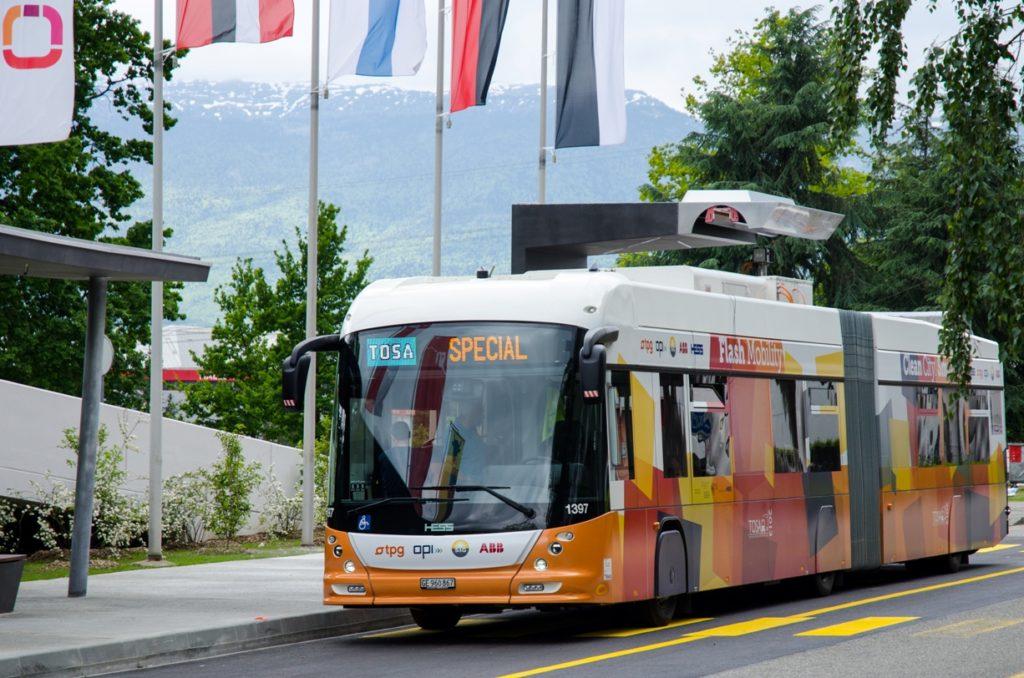 Elektryczny autobus TOSA
