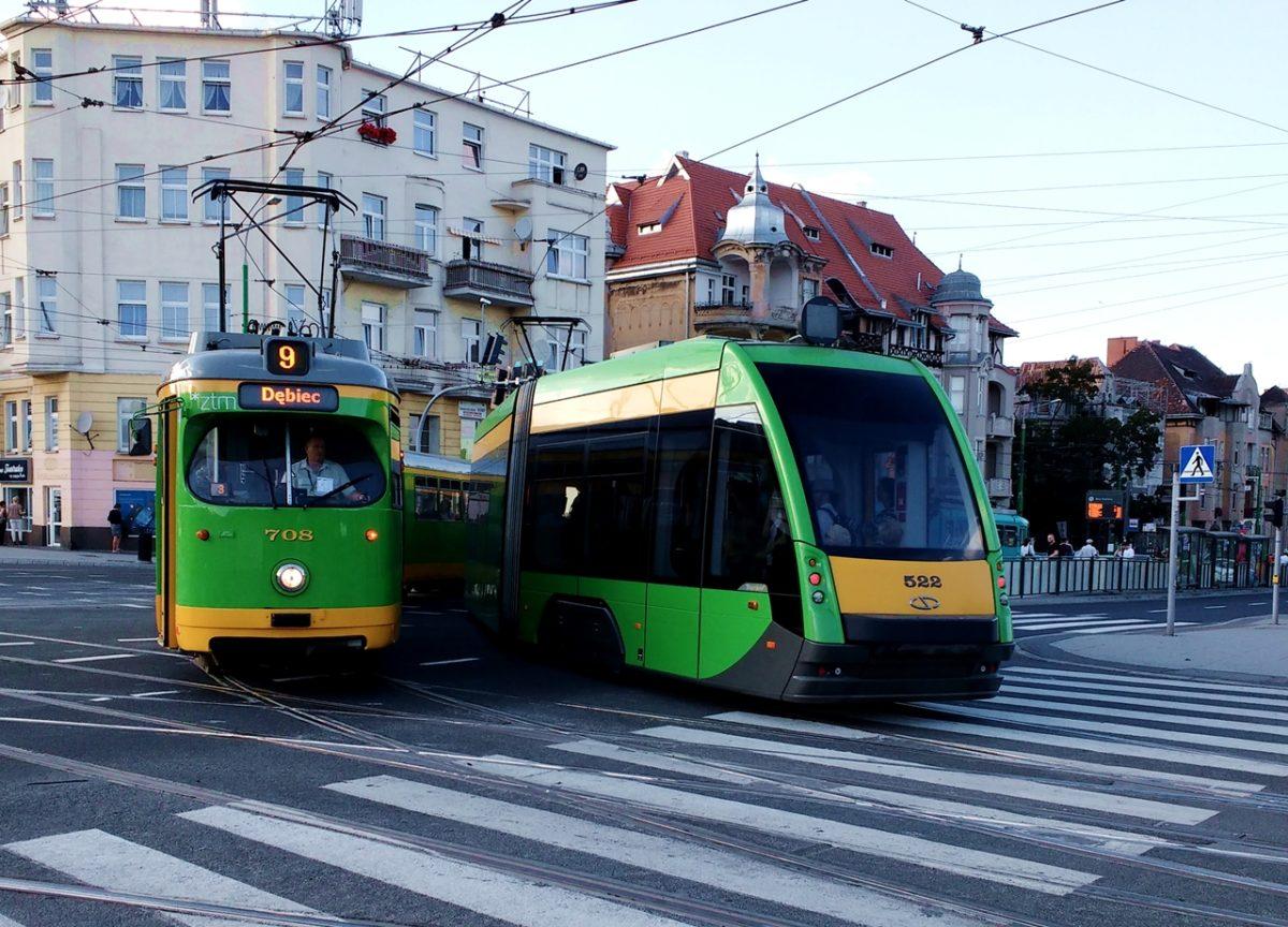 zrównoważony transport tramwaje poznań