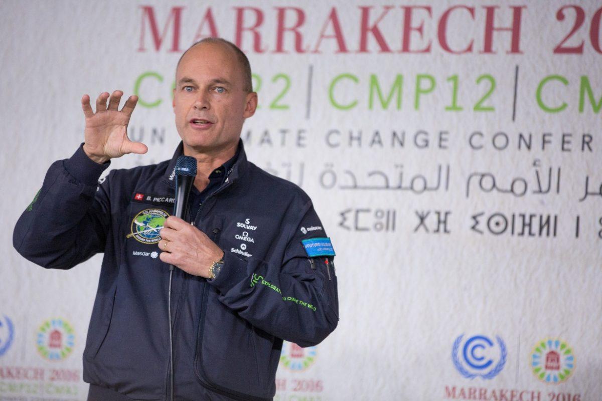 szczyt klimatyczny cop22 bertrand piccard