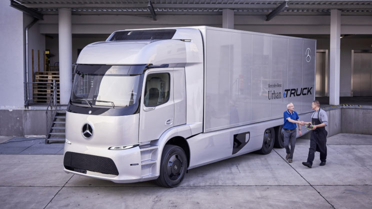 Elektryczna ciężarówka Mercedes Urban eTruck 2