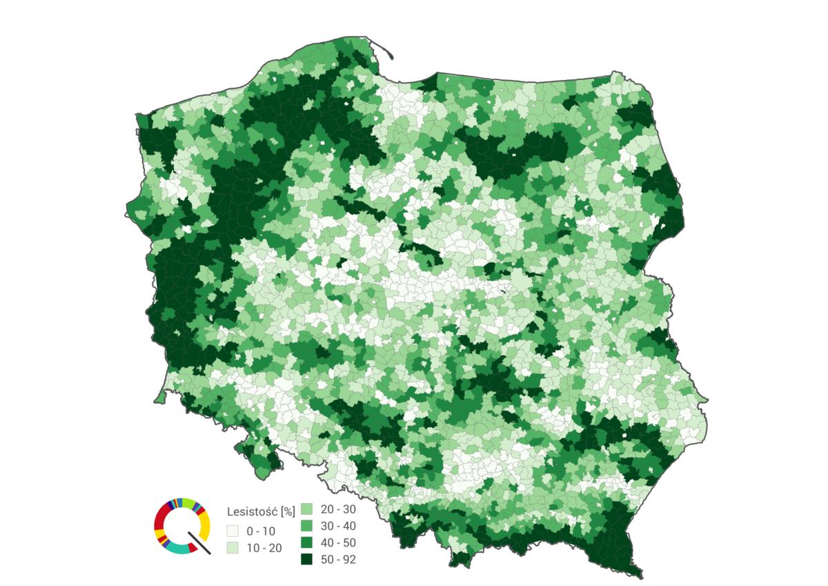 ile jest drzew w Polsce