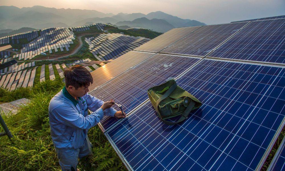 zielona energia montaż paneli PV Chiny