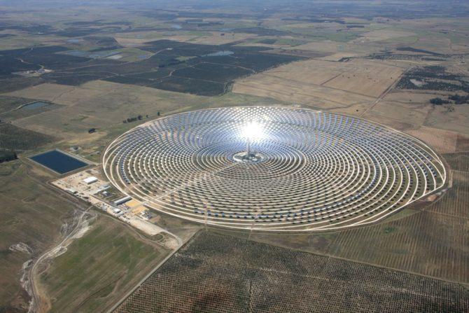 skoncentrowana energia słoneczna elektrowania gemasolar