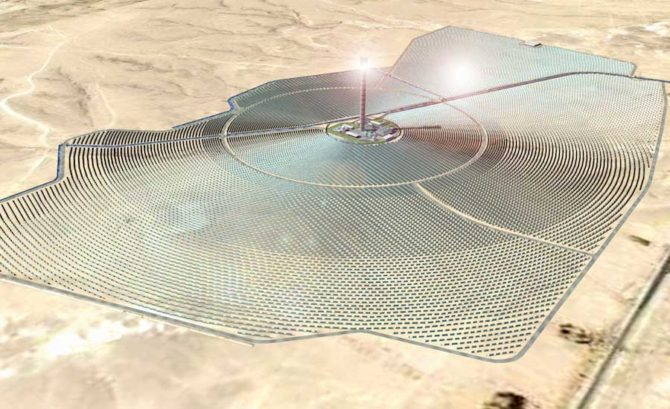 skoncentrowana energia słoneczna elektrownia Izrael
