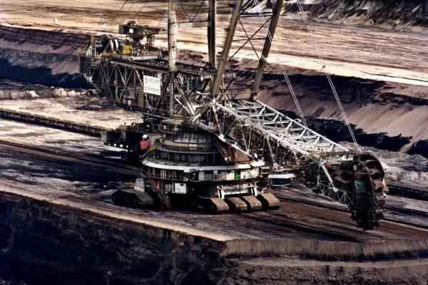 kopalnia węgla koparka