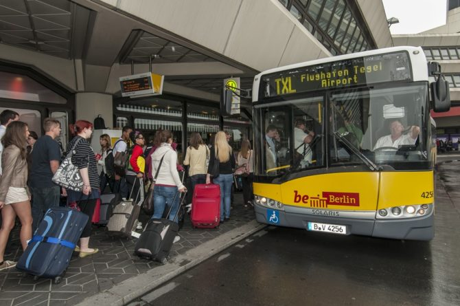 mobilność shuttle bus bvg berlin