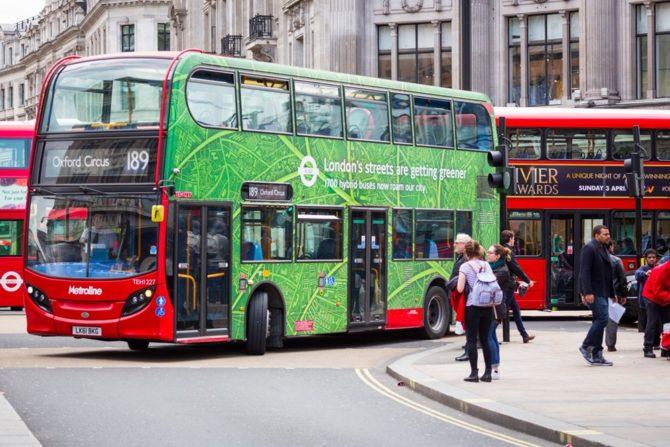 ekologiczne miasta londyn autobus