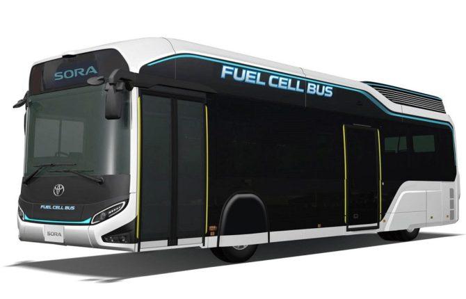 Ekologiczny transport drogowy - wodorowy autobus Toyota Sora / Źródło: Toyota