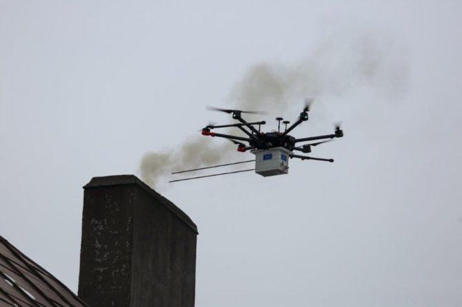antysmogowe drony