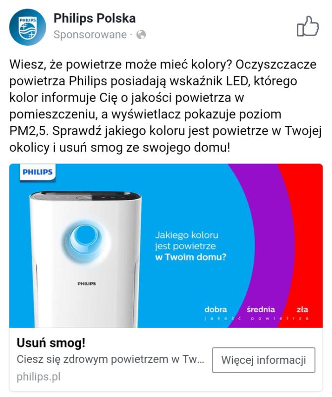 antysmogowe hity oczyszczacz reklama philips