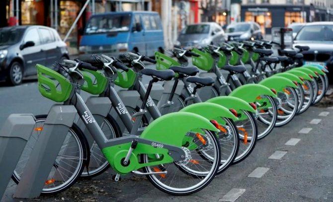 rower miejski elektryczny velib