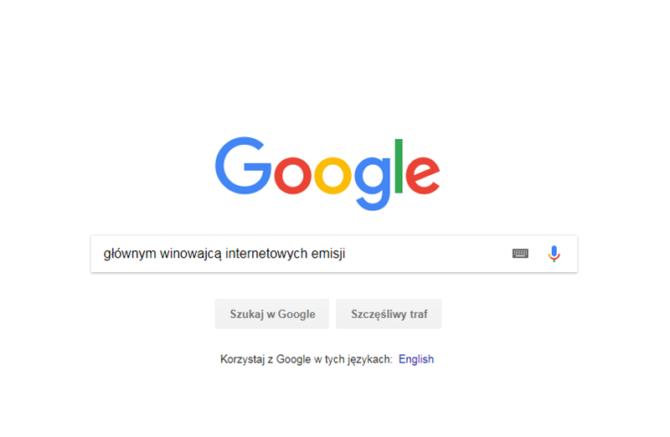 internet google emisje co2