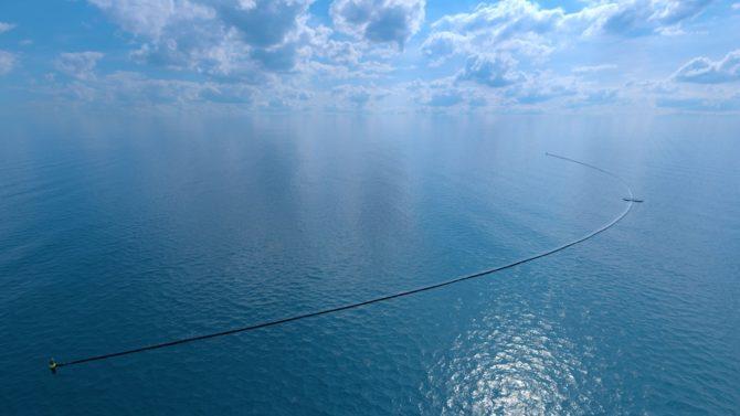 walka z plastikiem The Ocean Cleanup wizualizacja