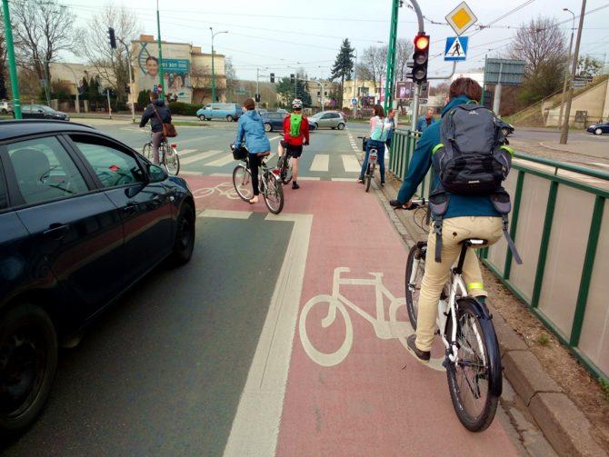 miasto przyjazne rowerzystom sluza rowerowa poznan